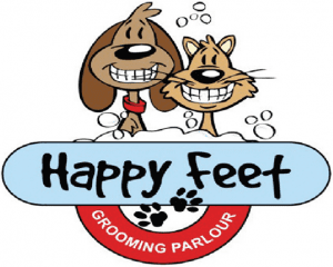 happy feet grooming parlour logo